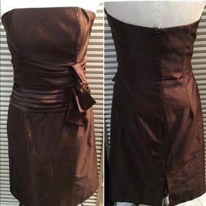 SCOTT Mc CLINTOCK sz 12 brown strapless